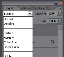 Layer effects dropdown