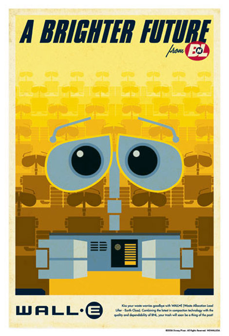 Eric Tan's Wall•e posters