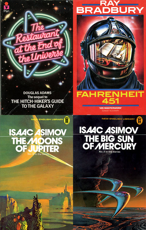Science fiction book covers