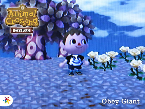Obey Giant in Animal Crossing: City Folk