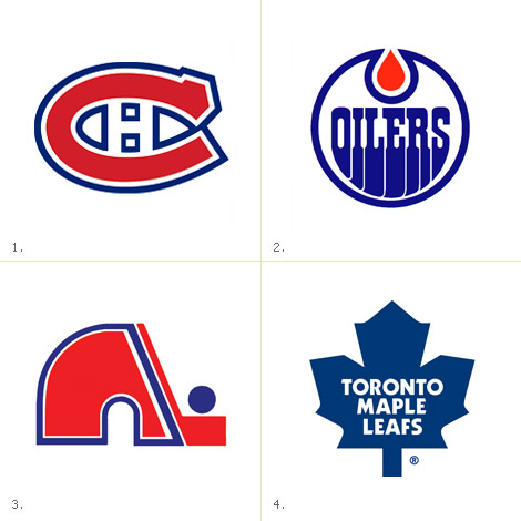Canadian NHL logos