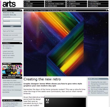 James White in Computer Arts magazine tutorial