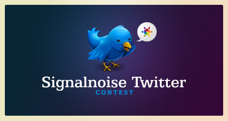 Signalnoise Twitter contest