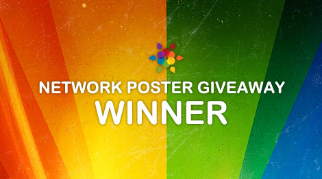 Network poster giveaway winner