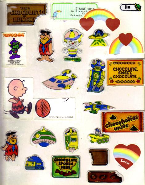 James White's sticker book