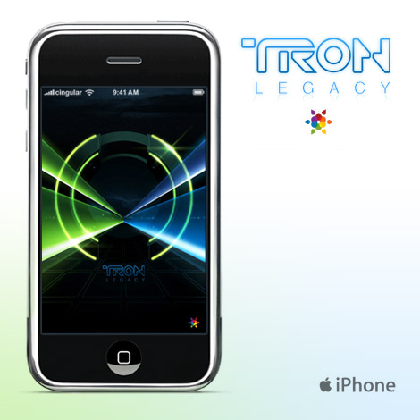 Tron Legacy iPhone wallpaper by James White