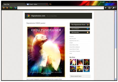 Signalnoise Google Chrome theme by James White