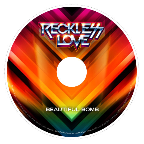 Reckless Love cd design by James White
