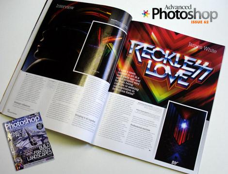 James White in Advanced photoshop magazine