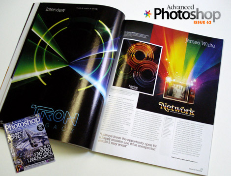 James White in Advanced photoshop magazine