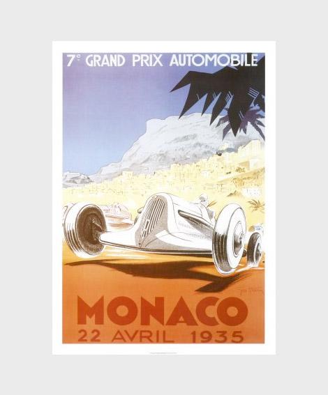 Monaco Grand Prix posters