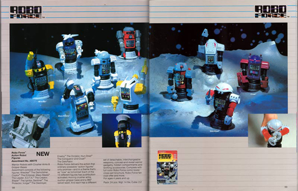 Ideal Robo Force 1984 Toy Fair Catalog