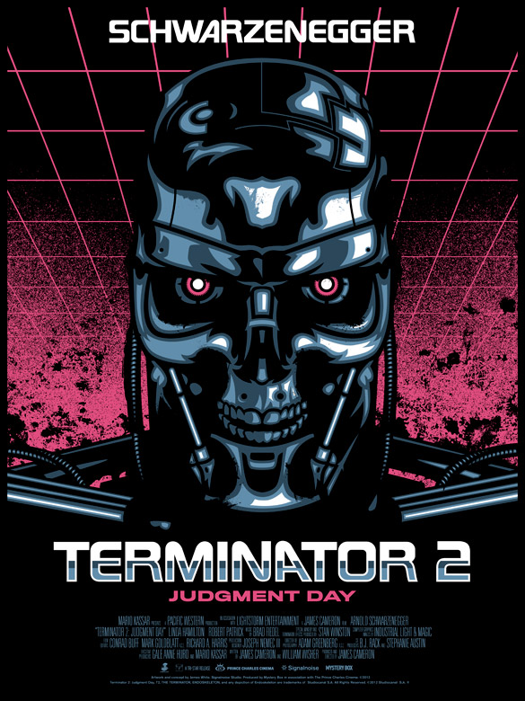 Terminator 2 poster by James White, Signalnoise