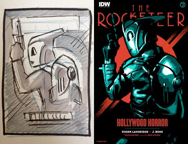 Rocketeer variant cover sketch