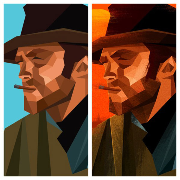 Here are my clean vectors beside the Photoshop texture work.