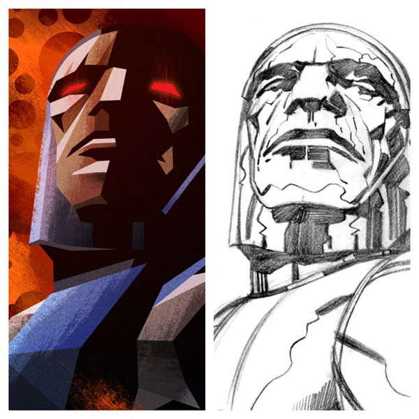 Darkseid illustration by James White
