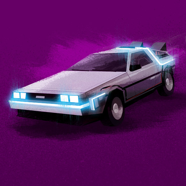 DeLorean illustration