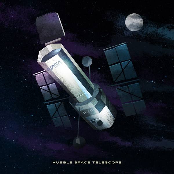 Hubble illustration by James White