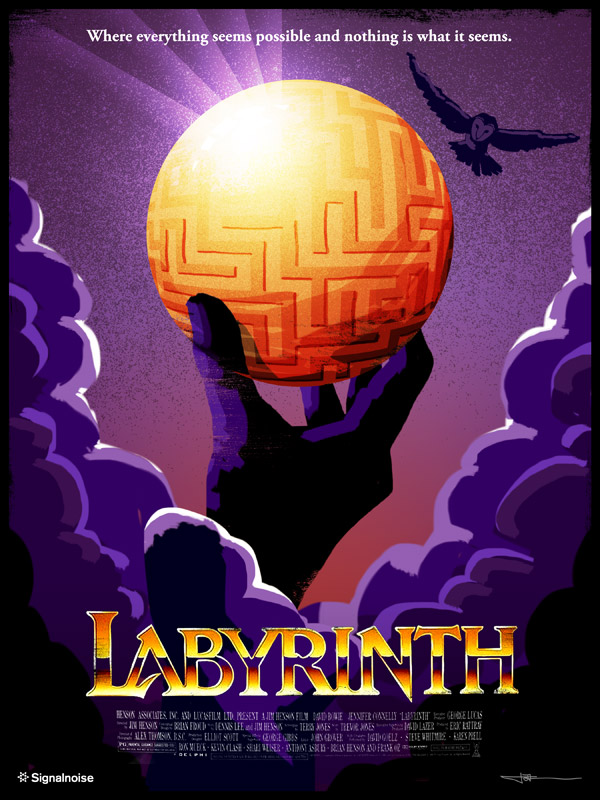 Labyrinth poster by James White