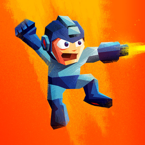 Mega Man illustration by James White