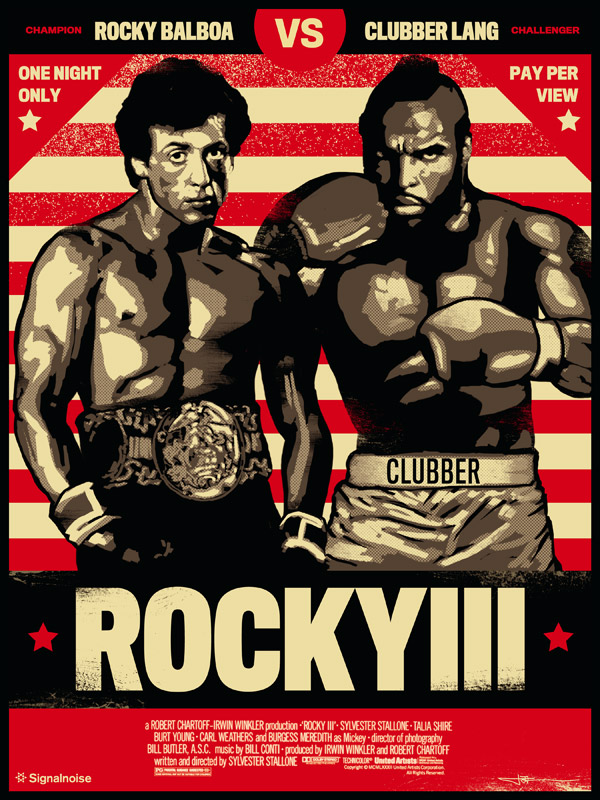 Rocky 3 poster by James White