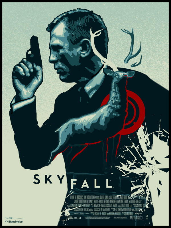 Skyfall poster by James White