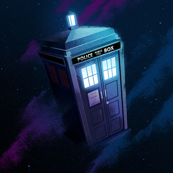 TARDIS illustration by James White