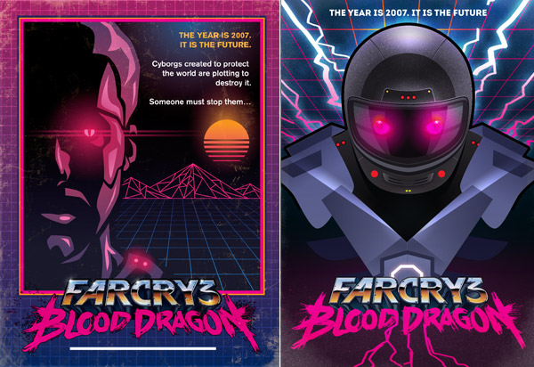 Blood Dragon poster comps