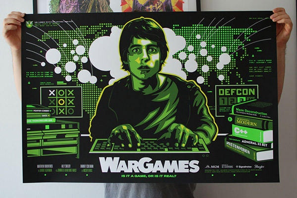 WAR GAMES poster by James White