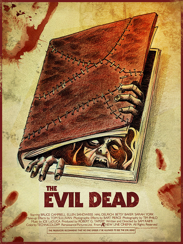 EVIL DEAD poster by James White