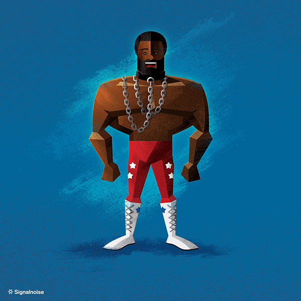 WWE illustrations by James White