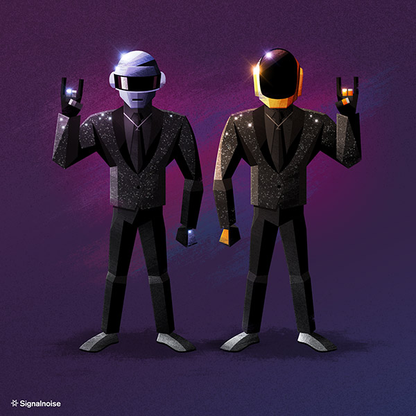Daft Punk illustration by James White