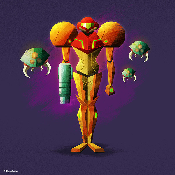 Metroid illustration by James White