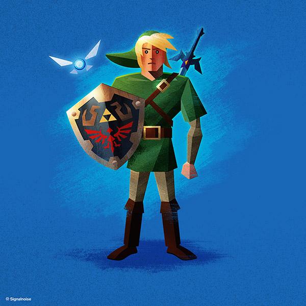 Zelda illustration by James White