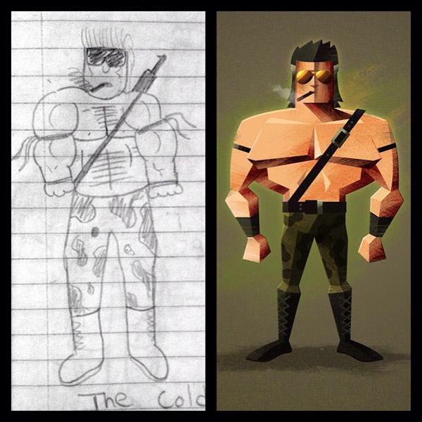 Wrestler illustration by James White