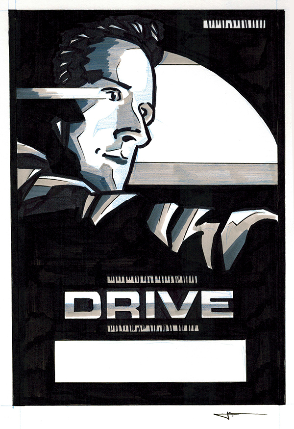 DRIVE poster original art