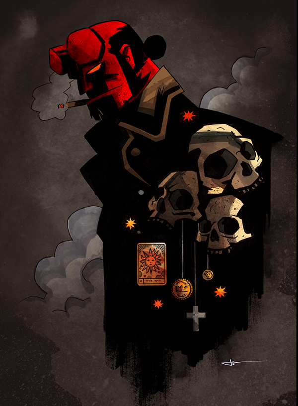 Hellboy by james White