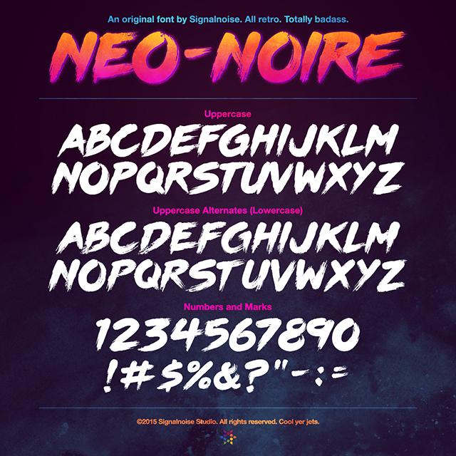 Neo-Noire: A Signalnoise Font