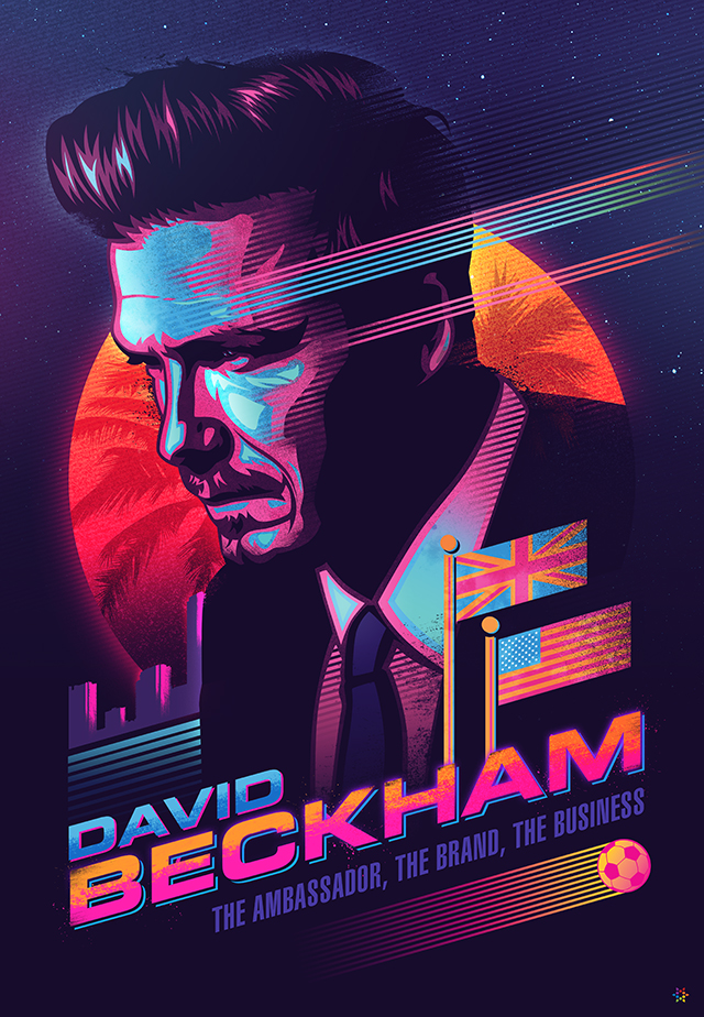 David Beckham poster by James White